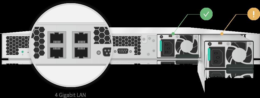 network attached storage 1u rack, 4-bay, asustor as6204rs + railkit 4
