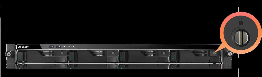 network attached storage 1u rack, 4-bay, asustor as6204rs + railkit 6