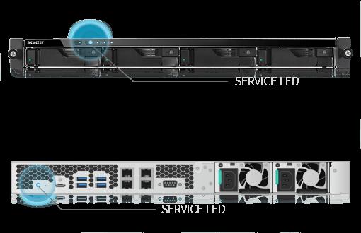 network attached storage 1u rack, 4-bay, asustor as6204rs + railkit 7