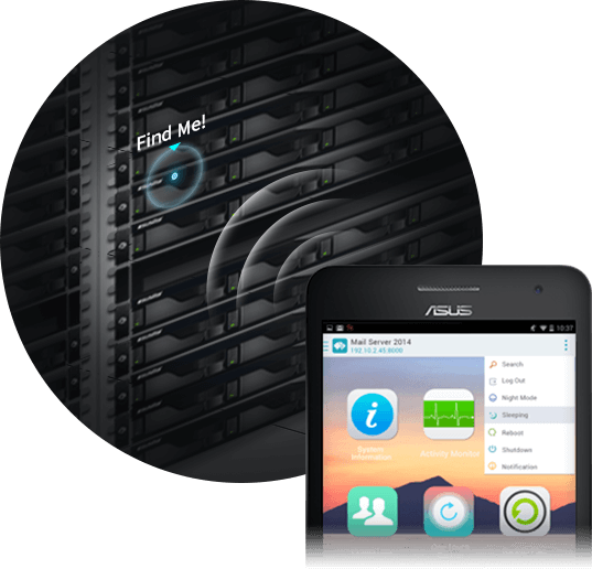 network attached storage 1u rack, 4-bay, asustor as6204rs + railkit 8