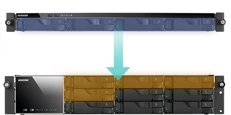 network attached storage 1u rack, 4-bay, asustor as6204rs + railkit 9