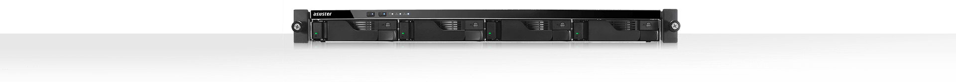 network attached storage 1u rack, 4-bay, asustor as6204rs + railkit 19
