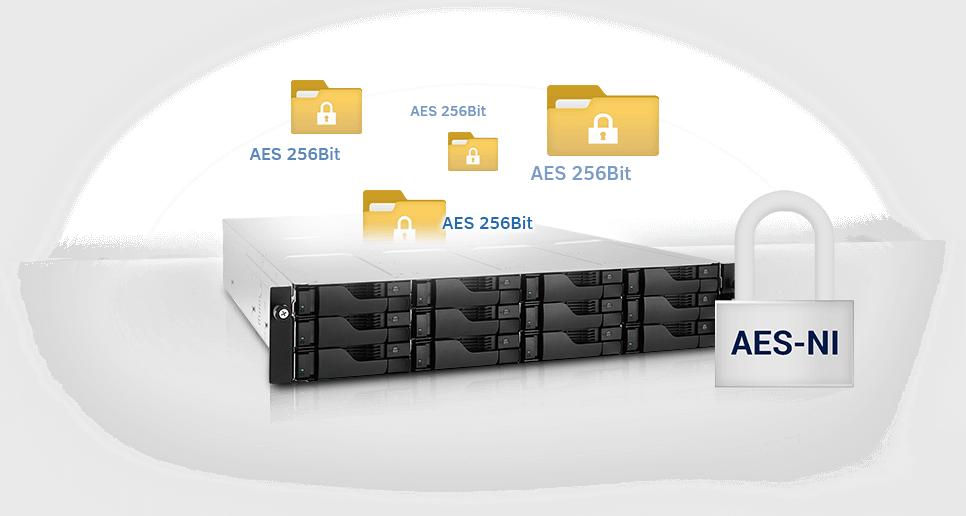 network attached storage 1u rack, 4-bay, asustor as6204rs + railkit 1