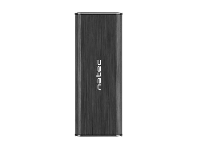OBUDOWA HDD/SSD ZEWNĘTRZNA NATEC RHINO SATA M.2 USB 3.0 ALUMINIUM CZARNA SLIM