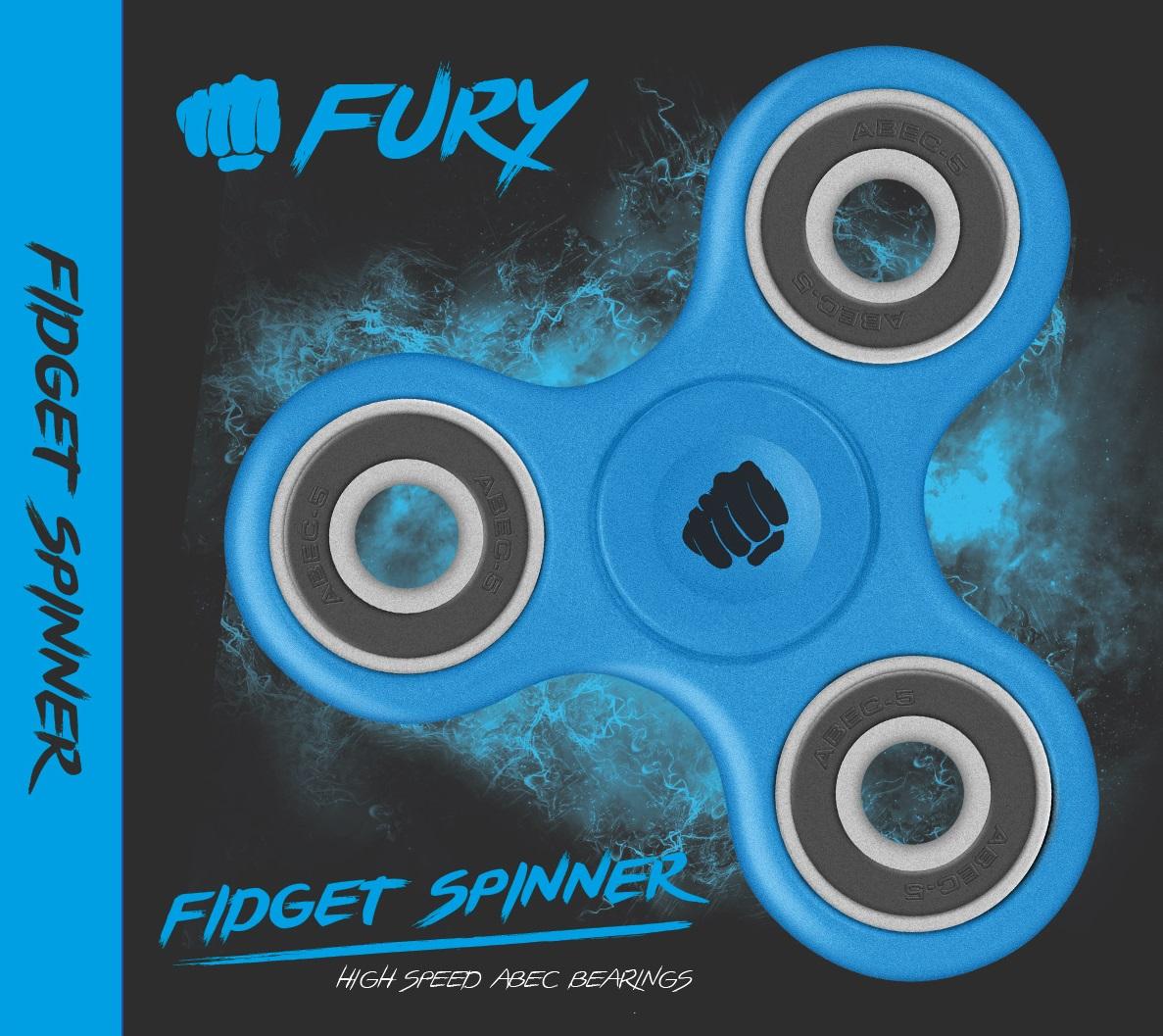 FIDGET SPINNER FURY NIEBIESKI