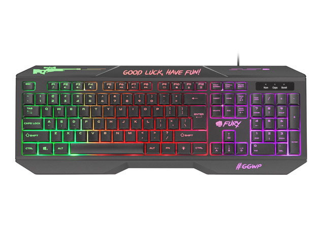 gaming keyboard fury hellfire 2 cz/sk with backlight 1